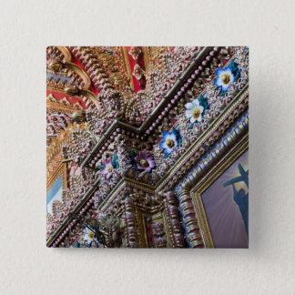 Mexico, Queretaro. Detail inside ornate Catholic Pinback Button