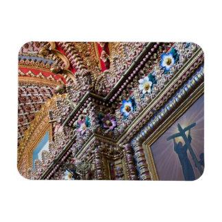 Mexico Queretaro Detail inside ornate Catholic Rectangular Magnets