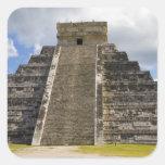 México, Quintana Roo, cerca de Cancun, Chichen 2 Calcomanías Cuadradas Personalizadas