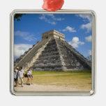 México, Quintana Roo, cerca de Cancun, Chichen 4 Adorno Cuadrado Plateado
