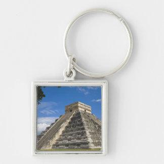 México, Quintana Roo, cerca de Cancun, Chichen 5 Llavero Cuadrado Plateado