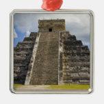 Mexico, Quintana Roo, near Cancun, Chichen 2 Square Metal Christmas Ornament