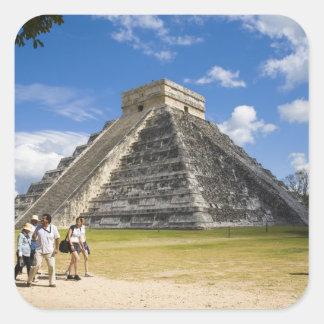 Mexico, Quintana Roo, near Cancun, Chichen 4 Square Sticker