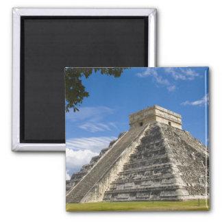 Mexico, Quintana Roo, near Cancun, Chichen 5 2 Inch Square Magnet