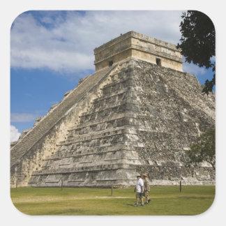 Mexico, Quintana Roo, near Cancun, Chichen 6 Square Sticker