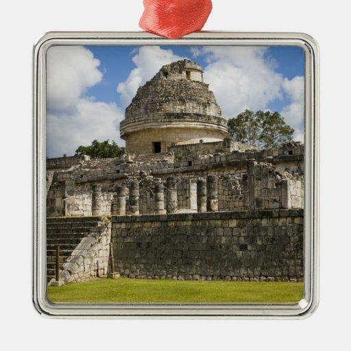 Mexico, Quintana Roo, near Cancun, Square Metal Christmas Ornament