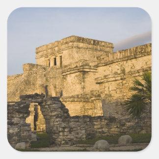 Mexico, Quintana Roo, Yucatan Peninsula, Square Sticker