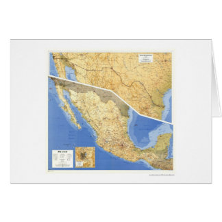 Mexico Reference Map - 1993 Greeting Card