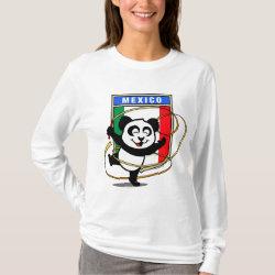 Women's Basic Long Sleeve T-Shirt with Mexico Rhythmic Gymnastics Panda design