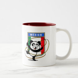 Two-Tone Mug with Mexico Rhythmic Gymnastics Panda design