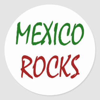 Mexico Rocks Round Sticker