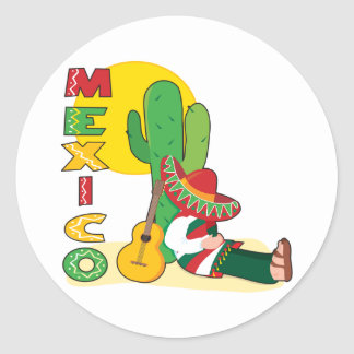 Mexico Round Stickers