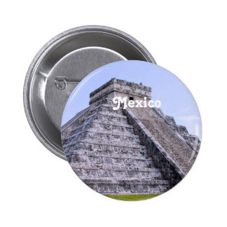 Mexico Ruins Pinback Buttons
