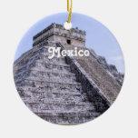 Mexico Ruins Christmas Tree Ornaments