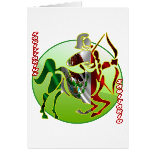 MEXICO SAGITTARIUS HOROSCOPES PRODUCTS GREETING CARDS
