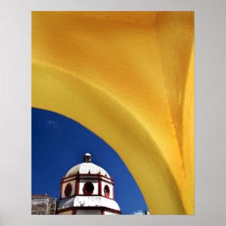 Mexico, San Miguel de Allende. Church framed Poster