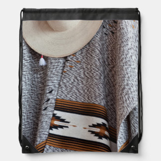 Mexico, San Miguel De Allende. Close-Up Of Hat Cinch Bag