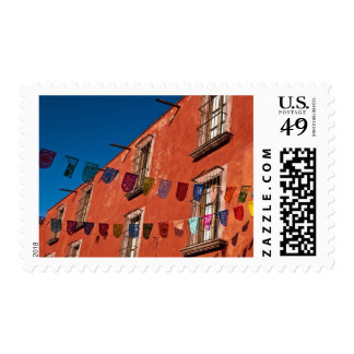 Mexico, San Miguel de Allende. Colorful banners Postage Stamp