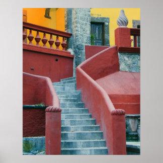 Mexico, San Miguel de Allende, Colorful Poster