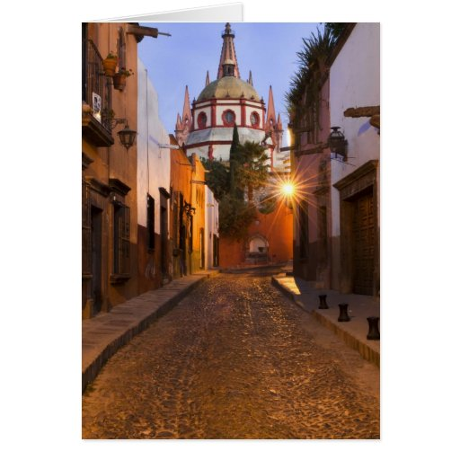 Mexico, San Miguel de Allende. Early morning Card