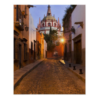 Mexico, San Miguel de Allende. Early morning Poster