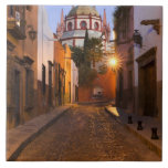 Mexico, San Miguel de Allende. Early morning Large Square Tile