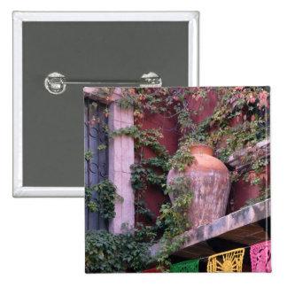 México, San Miguel de Allende, hiedra, pote de arc Pin Cuadrada 5 Cm