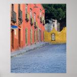 México, San Miguel de Allende, hogares adelante Póster
