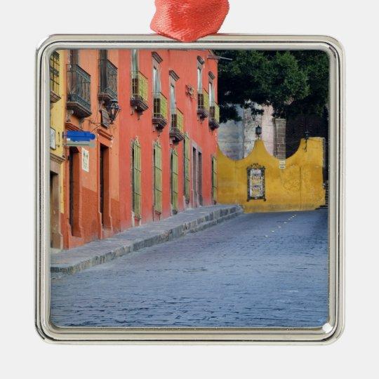 Mexico, San Miguel de Allende, Homes along Metal Ornament