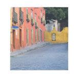 Mexico, San Miguel de Allende, Homes along Note Pads