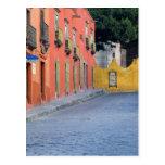 Mexico, San Miguel de Allende, Homes along Postcard