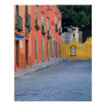 Mexico, San Miguel de Allende, Homes along Poster