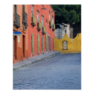 Mexico, San Miguel de Allende, Homes along Poster