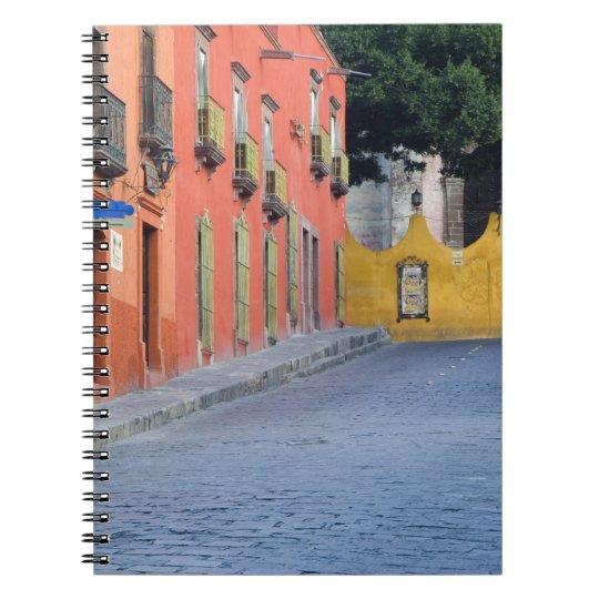 Mexico, San Miguel de Allende, Homes along Spiral Notebook