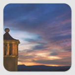 México, San Miguel de Allende. Puesta del sol Pegatina Cuadrada