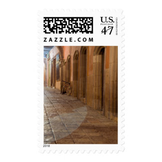 Mexico, San Miguel de Allende, Sidewalk with Postage Stamp