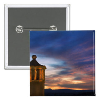 Mexico, San Miguel de Allende. Sunset over 2 Inch Square Button