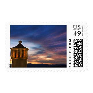 Mexico, San Miguel de Allende. Sunset over Postage