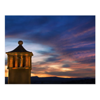 Mexico, San Miguel de Allende. Sunset over Postcard