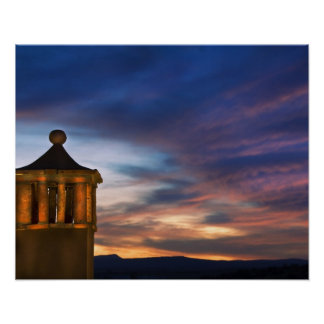 Mexico, San Miguel de Allende. Sunset over Poster