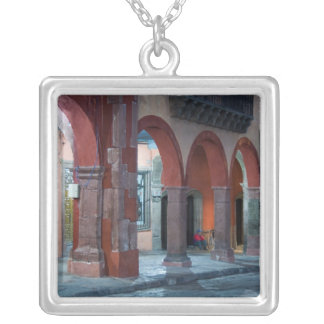 Mexico, San Miguel de Allende, The Jardin, Silver Plated Necklace