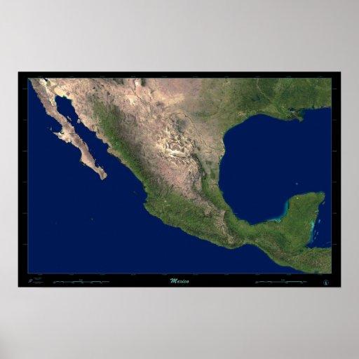 Mexico satellite poster photo print