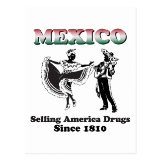 Mexico, Selling America Drungs Postcard