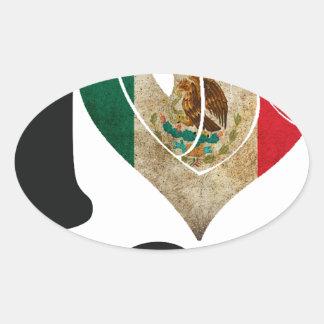 MÉXICO SEÑALA TE AMO   PRODUCTOS POR MEDIO DE UNA COLCOMANIAS DE ÓVAL