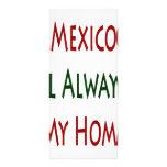 México será siempre mi hogar plantilla de lona