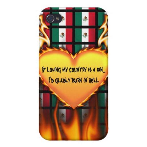 México si el amor de mi país es un pecado iPhone 4 carcasas