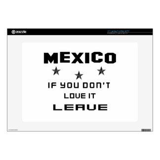 México si usted no lo ama, se va calcomanía para portátil