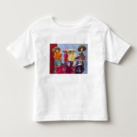 Mexico. Skeletal Catrinas, figures celebrating Toddler T-shirt
