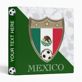 "Mexico Soccer 1"" Vinyl Binders"