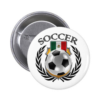 Mexico Soccer 2016 Fan Gear Button